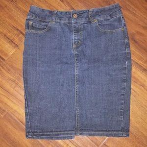 MIXIT Denim Jean Pencil Skirt Knee Length Size 6